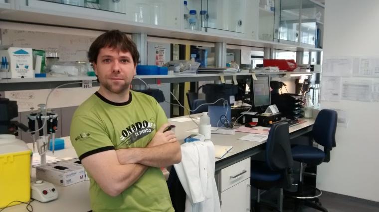 Haritz Irizar, investigador de la UPV/EHU autor de la investigación sobre Esclerosis Múltiple.