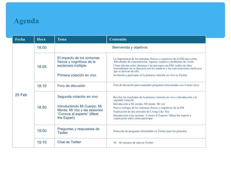 Programa Live Stream Event Escerosis Múltiple Saludentuvida.com