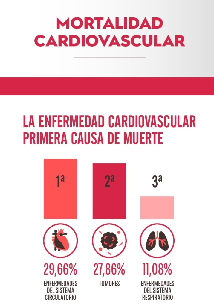 Primera causa muerte enfermedad cardiovascular Saludentuvida.com