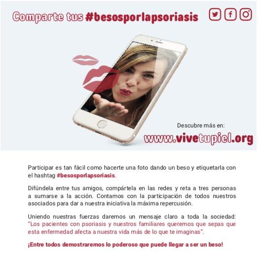Campaña besos por la psoriasis