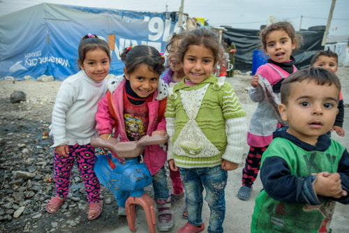 Scenes from an informal tented settlement (ITS) for Syrian refugees, near Zahle' in Bekaa, Lebanon. Many of the children here attend a World Vision Child Friendly Space and Early Education Center. The camp includes recent refugees from militant controlled territory.